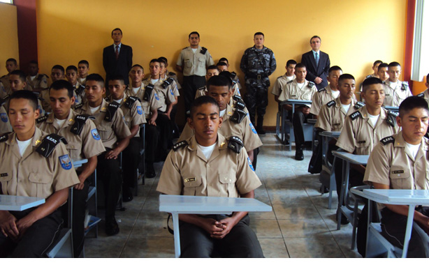 In the picture above we see a more recent military group in Ecuador practicing Transcendental Meditation to maintain peace in that country.